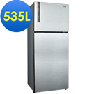 SAMPO聲寶 535L 1級變頻2門電冰箱 SR-B53D(K3) 漸層銀