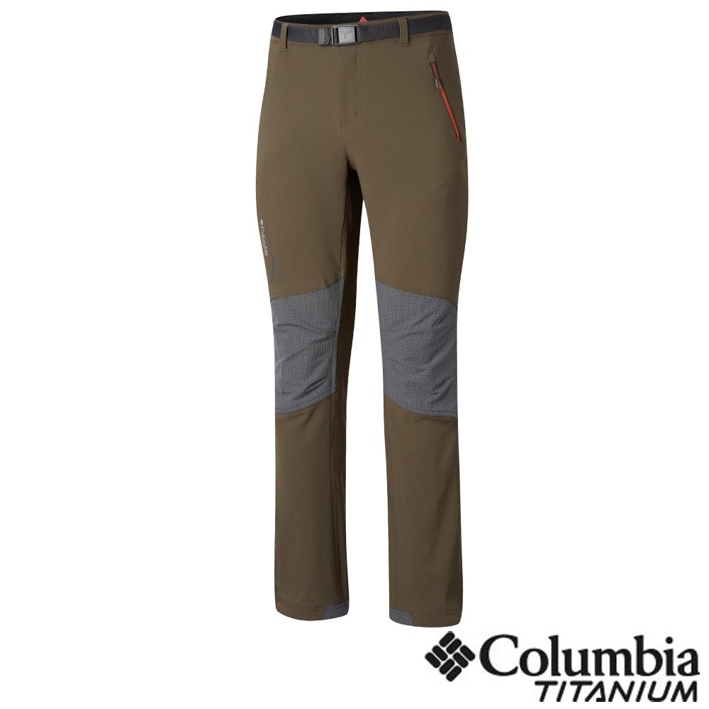 Columbia 哥倫比亞 男款-鈦 Omni-HEA保暖防潑長褲- 軍綠色