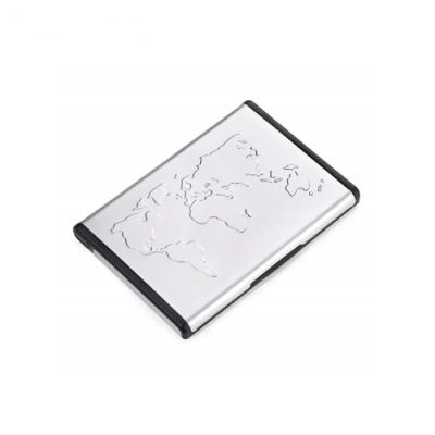 德國TROIKA世界地圖立式名片夾CDC96多功能卡夾隨身名片匣