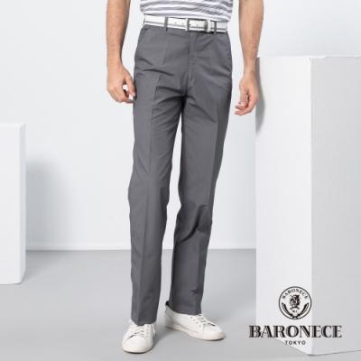 BARONECE 百諾禮士休閒商務  男裝 暗格平口休閒長褲-灰色(1188886-95)
