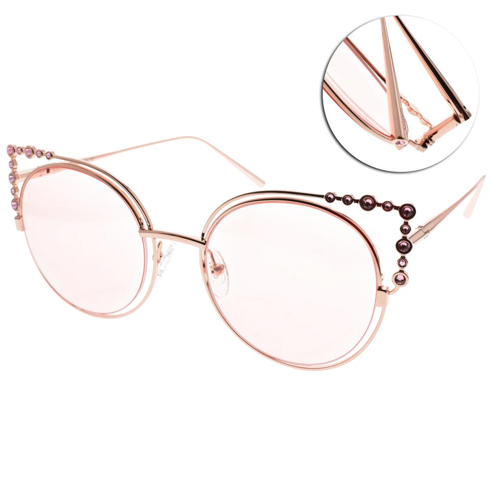 CARIN太陽眼鏡 秀智代言 珍珠貓眼款/玫瑰金-粉 #CORONET C2
