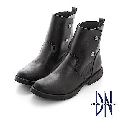 DN 簡約百搭 率性手工2WAY牛皮短靴-黑