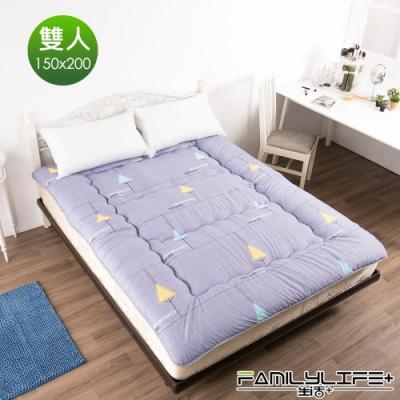 【FL生活+】日式加厚8cm雙人床墊(150*200cm)-紫色森林(FL-109-O)