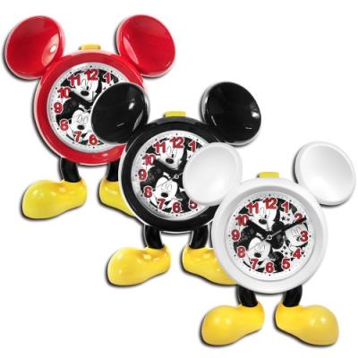 Disney 迪士尼 / 米奇 音樂 童趣 靜音機芯 兒童 座鐘 鬧鐘 - 白/黑/紅
