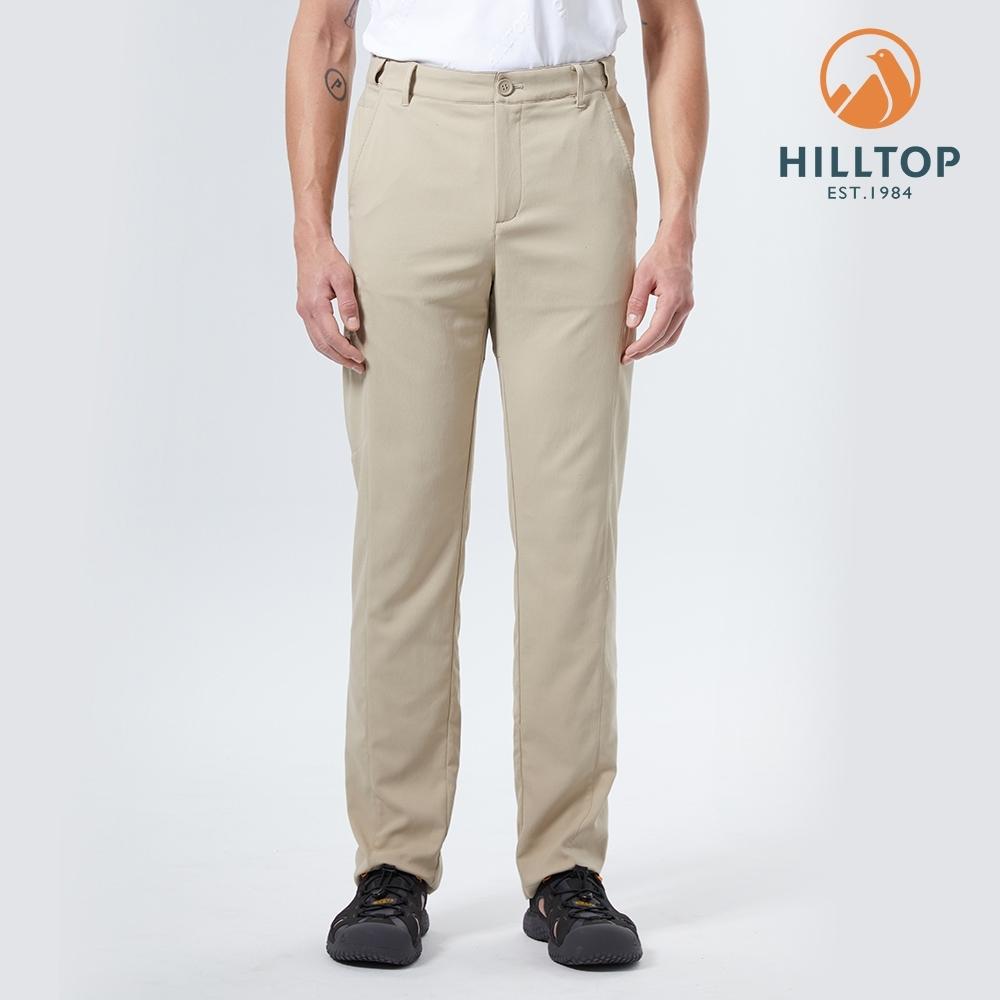 【hilltop山頂鳥】男款吸濕快乾彈性戶外休閒長褲S07MD6卡其