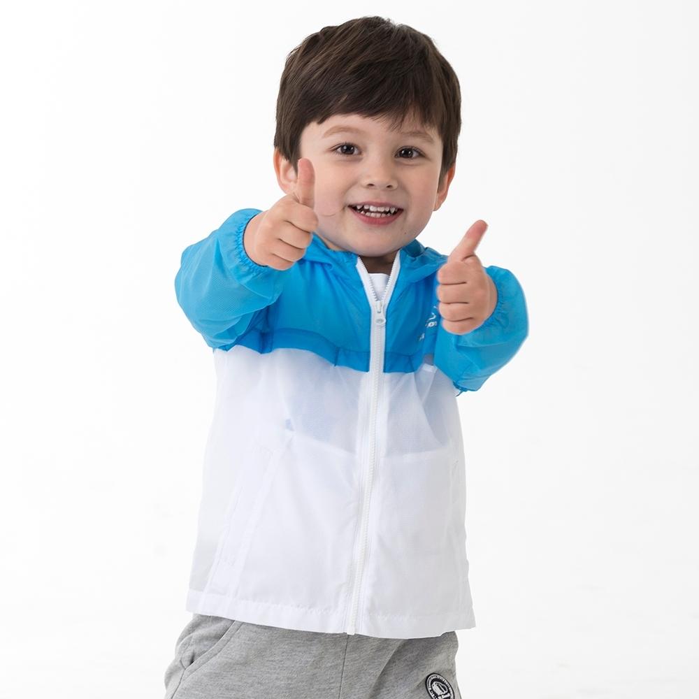 【St.Bonalt 聖伯納】童款拼色輕透防曬連帽外套 (9008-白色)