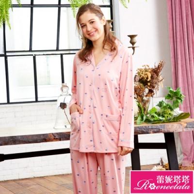 睡衣 針織棉女性長袖褲裝睡衣(R87210-15度假風情) 蕾妮塔塔