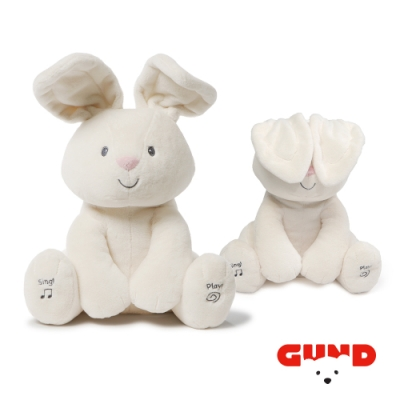 【美國GUND】小兔躲貓貓音樂互動玩偶