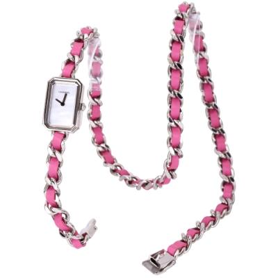 CHANEL H4557 Premiere Rock 桃紅色珍珠母貝三圈鍊錶