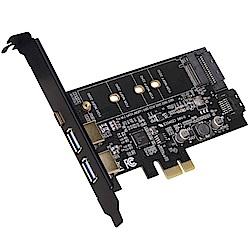 伽利略 PCI-E 1X USB3.1 5G 2A1C + M.2(NGFF) 轉接卡