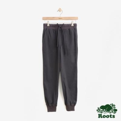 ROOTS女裝- -經典平織長褲-灰