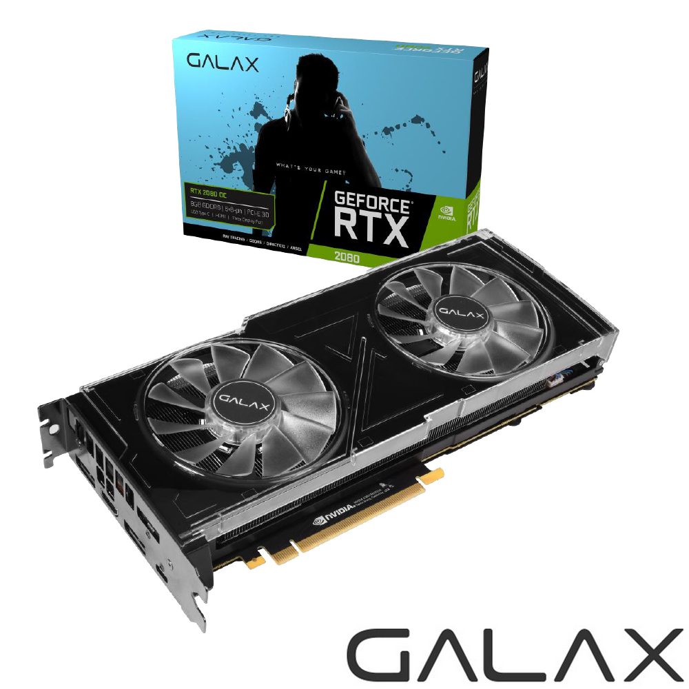 (無卡分期12期)GALAX GeForce RTX 2080 OC 顯示卡