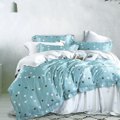 LAMINA 淺喜 雙人100%天絲四件式兩用被套床包組