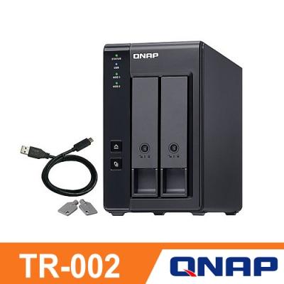 QNAP 威聯通 TR-002 2Bay NAS 網路儲存伺服器