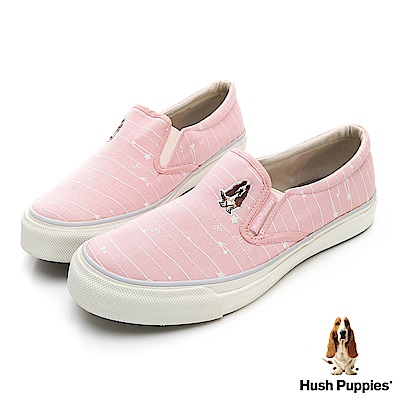 Hush Puppies DoReMi 咖啡紗休閒便鞋-粉紅