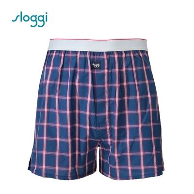sloggi men Vacation系列寬鬆平口褲 紳士藍 RG918718B5