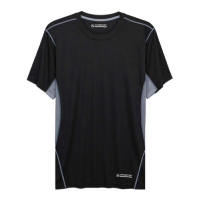FIRESTAR 男吸排圓領短袖T恤-短T 路跑 慢跑 黑灰