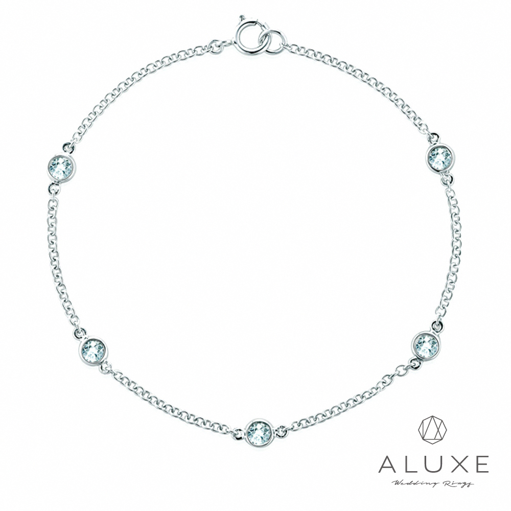 ALUXE亞立詩 18K金0.16克拉鑽石手鍊