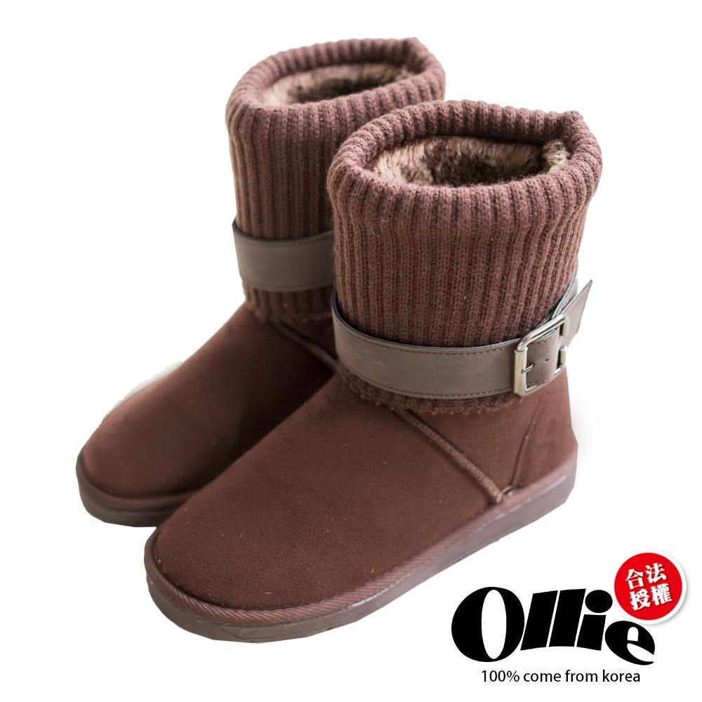 Aviator韓國空運-Ollie正韓製多穿法顯瘦內鋪毛厚底雪靴-咖