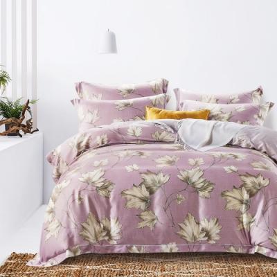 Saint Rose頂級精緻100%天絲床罩八件組(包覆高度35CM)-洛西-紫 雙人
