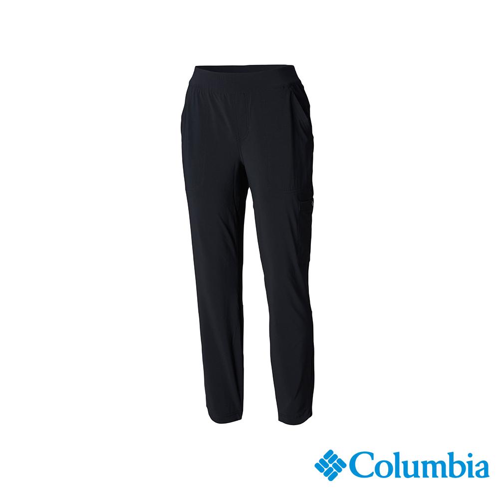 Columbia 哥倫比亞 女款-UPF50 防潑長褲-黑色 UAL11340BK