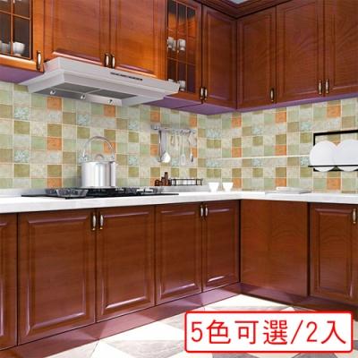 【挪威森林】好乾淨加厚防水防油汙廚房壁貼(2入)