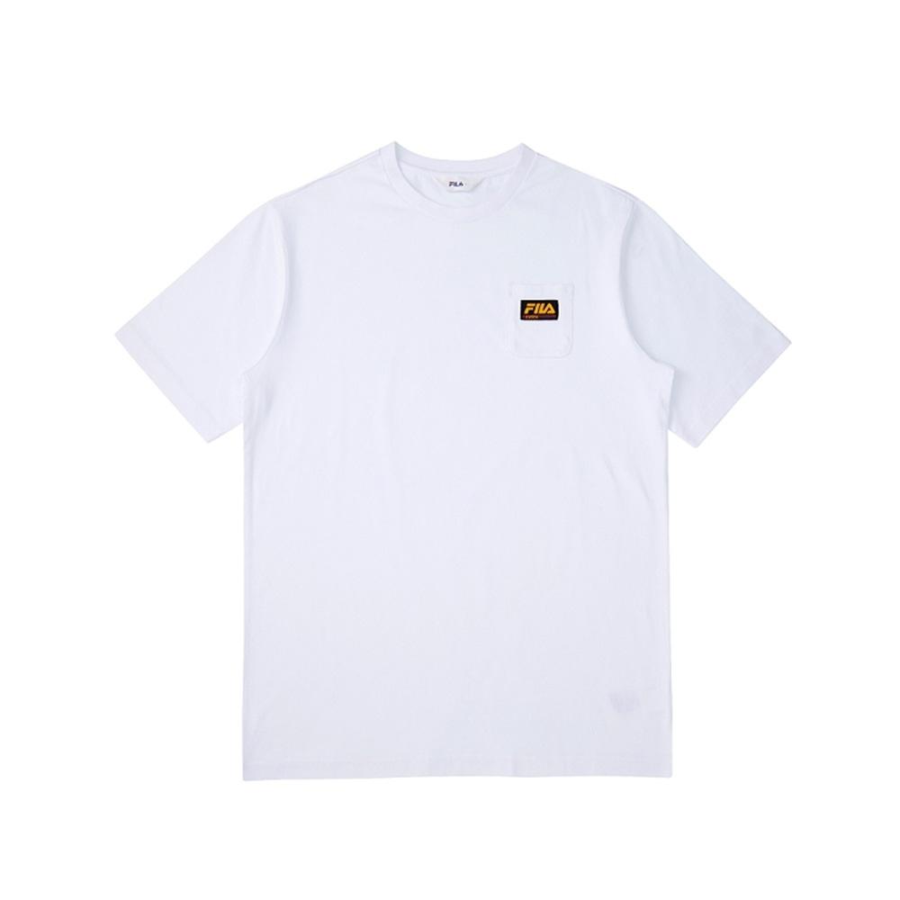 FILA 短袖圓領上衣-白 1TEV-1507-WT