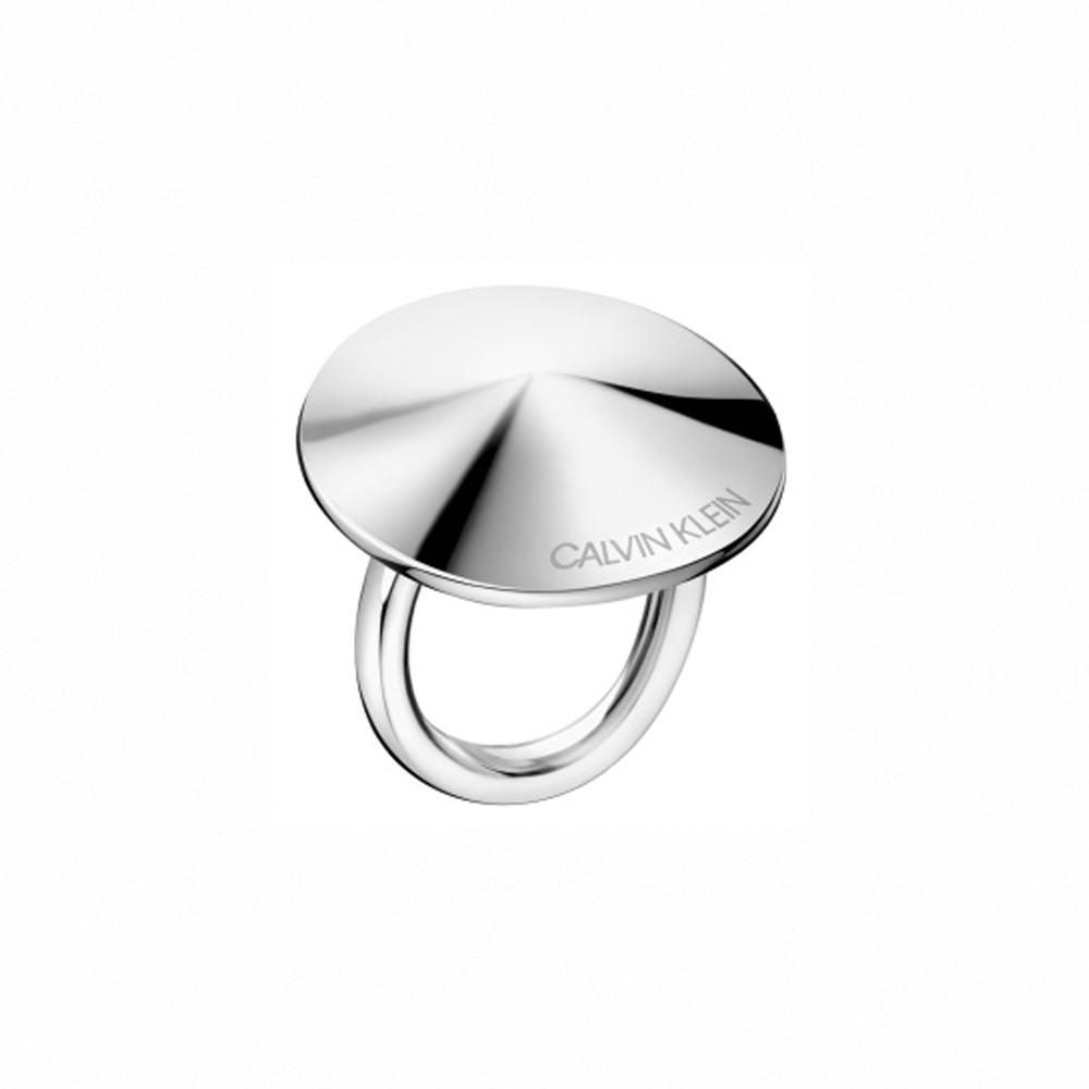 CALVIN KLEIN Spinner 系列圓形鋼色戒指-7