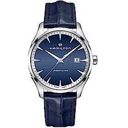 Hamilton漢米爾頓JAZZMASTER爵士系列摩登經典手錶(H32451641)-藍