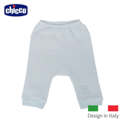 chicco-菱點夾棉初生褲-藍