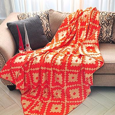 亞曼達Amanda 北歐風純棉針織四季毯 萬用毯 隨意毯 -愛戀