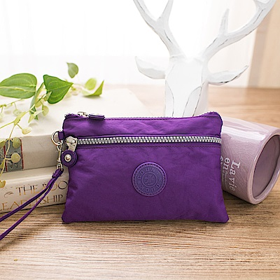 COUNT DUCK 美系悠活輕量零錢包-KS002-紫色