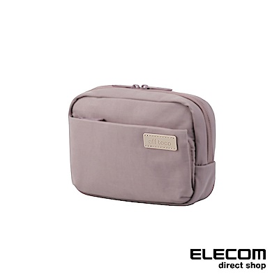 ELECOM 帆布多功能側背包OF03-朦朧紫