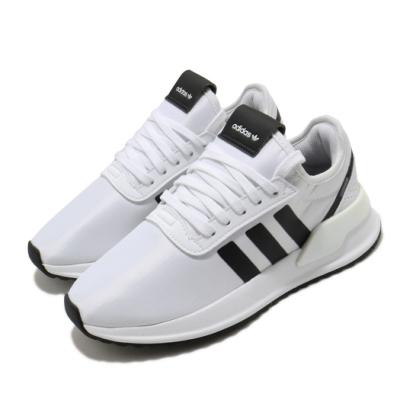 adidas 休閒鞋 U Path X 襪套式 女鞋 愛迪達 三葉草 流行 穿搭 緞面滑布 白 黑 FV9255