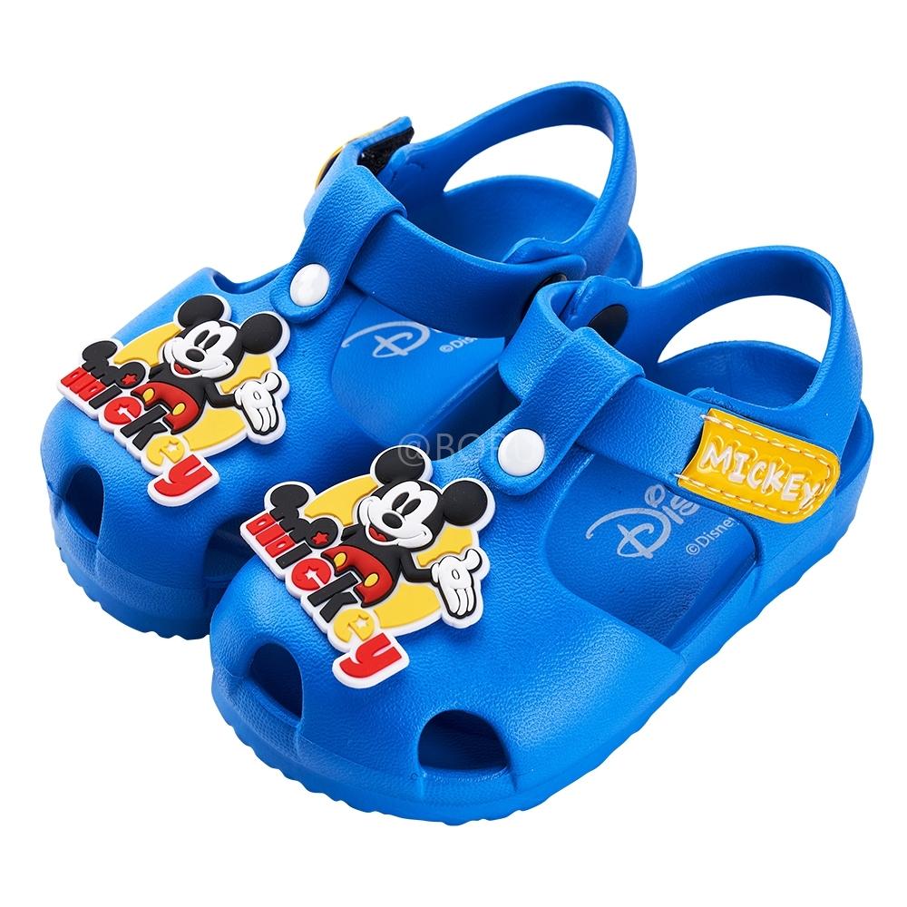 迪士尼童鞋 米奇 立體造型護趾防水涼鞋-藍(柏睿鞋業)