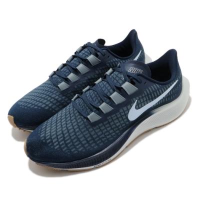Nike 慢跑鞋 Zoom Pegasus 37 運動 男鞋 氣墊 避震 路跑 健身 球鞋 小飛馬 藍 灰 BQ9646402