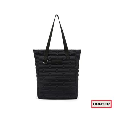 HUNTER - 菱格壓紋托特包 - 黑