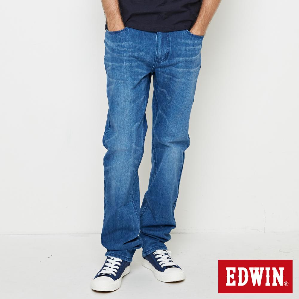 EDWIN 迦績褲JERSEYS棉感直筒褲-男-漂淺藍