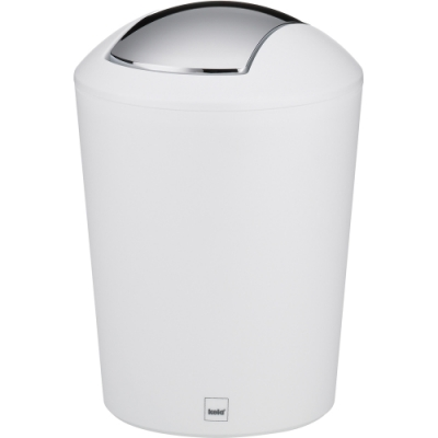 《KELA》搖擺蓋垃圾桶(白5L)