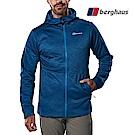 【Berghaus貝豪斯】男款連帽刷毛保暖外套H22M47藍色