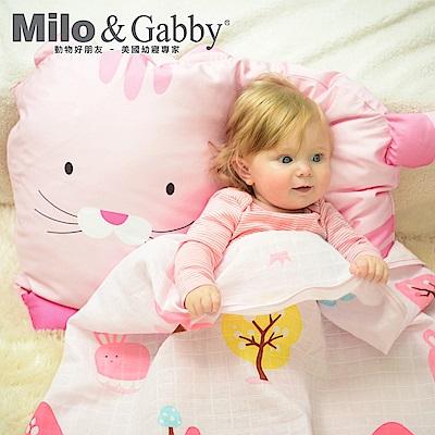 Milo&Gabby 動物好朋友-超細纖維防蹣大枕心+枕套組(NANCY 貓咪)