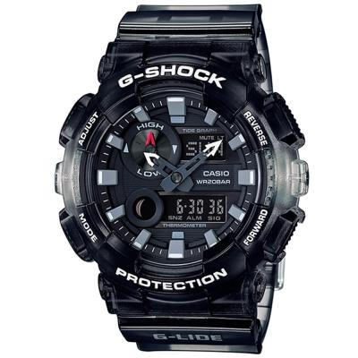 G-SHOCK頂級衝浪極限運動設計漸層果凍運動錶(GAX- 100 MSB- 1 )黑/ 51 mm