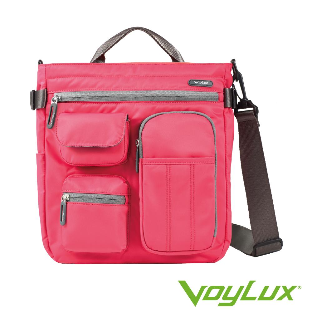 VoyLux伯勒仕-專櫃精品-輕時尚-防潑水三用輕巧包3681242A桃紅