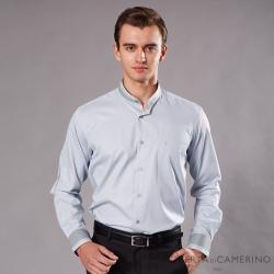 ROBERTA諾貝達 台灣製 學院風格 素條紋長袖襯衫 灰藍