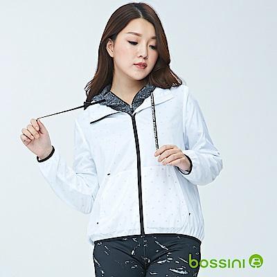 bossini女裝-連帽長袖防風外套01白