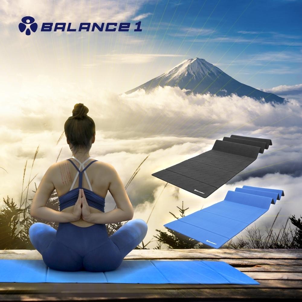 BALANCE 1 極致平衡折疊瑜珈墊 藍色
