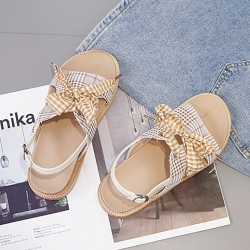 KEITH-WILL時尚鞋館 獨家款歐美可愛涼鞋-卡其