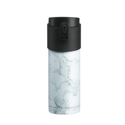 【PO:Selected】丹麥掀蓋12oz保溫泡茶杯 (大理石紋-白)