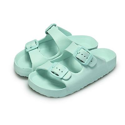 BuyGlasses 輕量造型防水兒童拖鞋-綠
