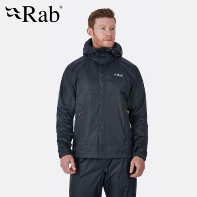 【RAB】Downpour Jacket 高透氣防水外套 男款 石墨灰 #QWF61